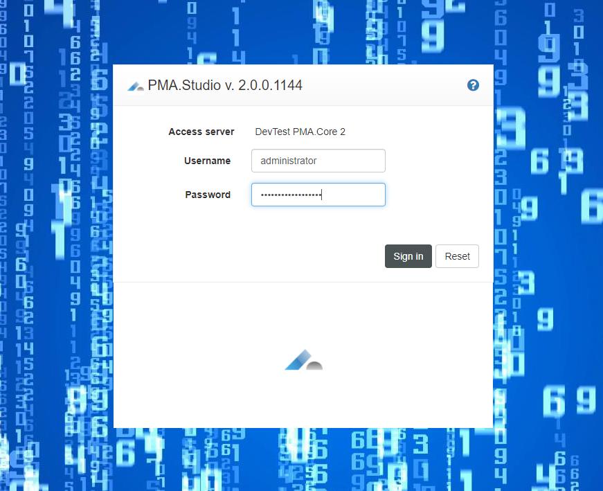 PMA.studio admin console